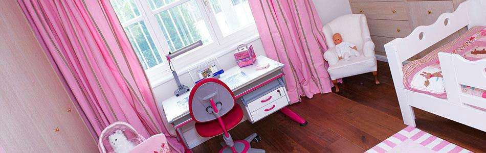 Kinderzimmer in rosa