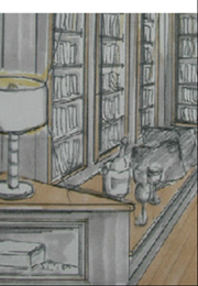 Skizze des Innenarchitekten
