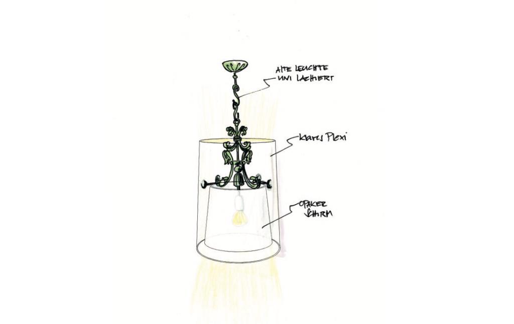 Skizze Redesign Lampe Interoir Design