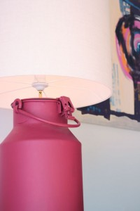 Lampe aus Milchkanne, Interior Design