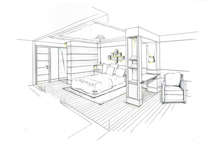 minarik zeichnungen und rendering in der innenarchitektur. Black Bedroom Furniture Sets. Home Design Ideas