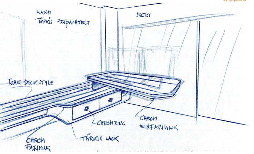 Sideboard mit Teakholz Interior Design