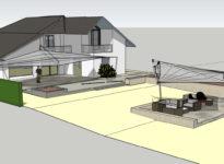 Skizze Sonnensegel Innenarchitektur
