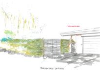 Skizze Einfahrt Innenarchitektur beim Garten neu gestalten